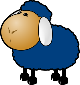 Blue Sheep Clip Art