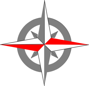 Red Grey Compass Final2 Clip Art