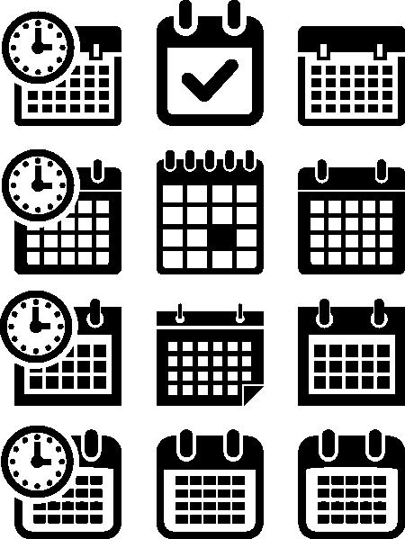 Calendar Graphic Icon : Calendar icon clip art at clker vector
