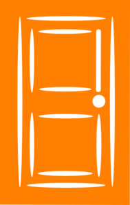 Orange Door Clip Art