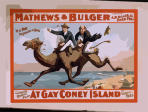 Mathews & Bulger In The Polite Comic Play, At Gay Coney Island By Levin C. Tees. Clip Art