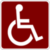Disabled Brickred Clip Art