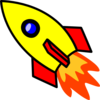 Rocket-dark Blue Window Clip Art