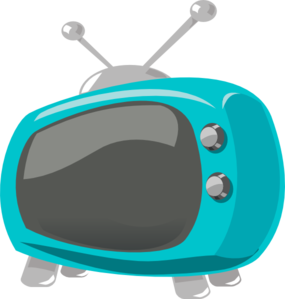 Television Comic Style Clip Art