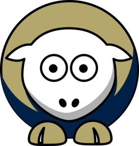 Sheep San Diego Padres Team Colors Clip Art