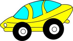 Cartoon Sporty Car Clip Art