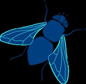 blue fly clip art at clker com vector clip art online royalty rh clker com clip art flying doves clip art fly