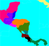 Central America Blank Colored Map Clip Art