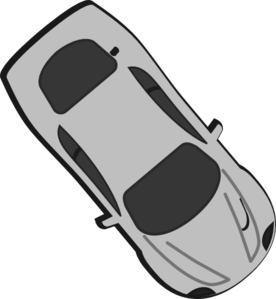 Gray Car - Top View - 310 Clip Art