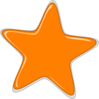 Orange Star Edited2 Clip Art