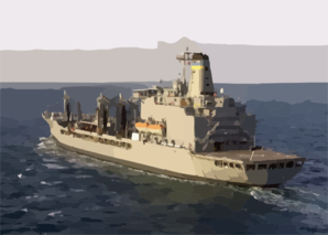 The Military Sea Lift Command (msc) Fleet Oilier Usns Pecos (t-ao 197) Underway Conducting Missions In Support Of Operation Iraqi Freedom. Clip Art