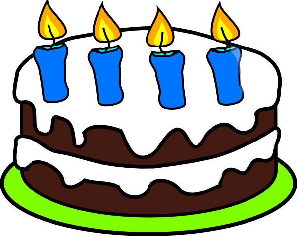 Clip Art Of Birthday Cake With Candles : Cake 4 Candles Clip Art at Clker.com - vector clip art ...