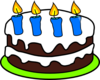 Cake 4 Candles Clip Art