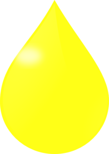 Yellow Drop Clip Art