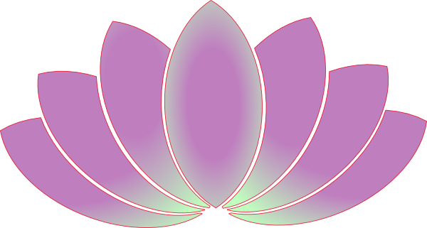 Lotus Flower Line Drawing Vector Free Download : Lotus flower light clip art at clker vector
