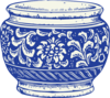 Blue And White Vase Clip Art