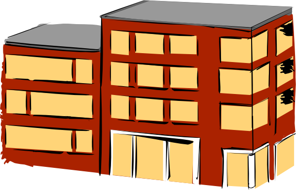 Apartment house clipart pictures