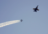 Navy Blue Angels Perform Aerial Maneuvers Image