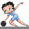 Betty Boop Bowling Clipart Free Image