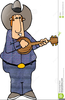 Banjo Player Clipart Image