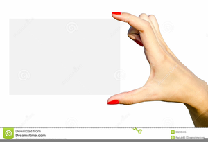 Hand Holding Card Clipart Image