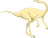 Cream Colored Dinosaur Clip Art