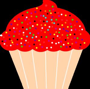 Red Cake Clipart : Cupcake Clip Art at Clker.com - vector clip art online ...