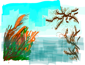 Plants On Lake Clip Art