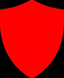 Shield red. Clip art at clker