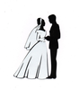 Black And White Bride And Groom Clipart Image