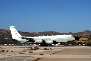 An U.s. Air Force Rc-135v/w Rivet Assigned To The 95th Reconnaissance Squadron Lands At U.s. Naval Support Activity Souda Bay Image
