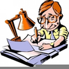 Book Writer Clipart Image