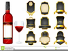 Free Clipart Wine Bottle Labels Image