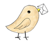 Bird Carrying Letter Image