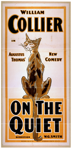 William Collier In Augustus Thomas  New Comedy, On The Quiet Image