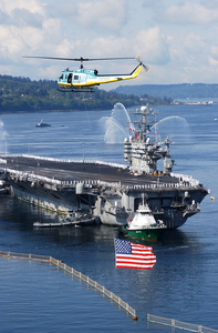 He Aircraft Carrier Uss Abraham Lincoln (cvn 72) Returns Home From Nearly A Ten-month Deployment In Support Of Operations Enduring Freedom And Iraqi Freedom Image