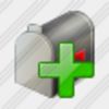 Icon Mail Box Add Image