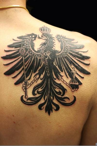 German Eagle Chest Tattoo