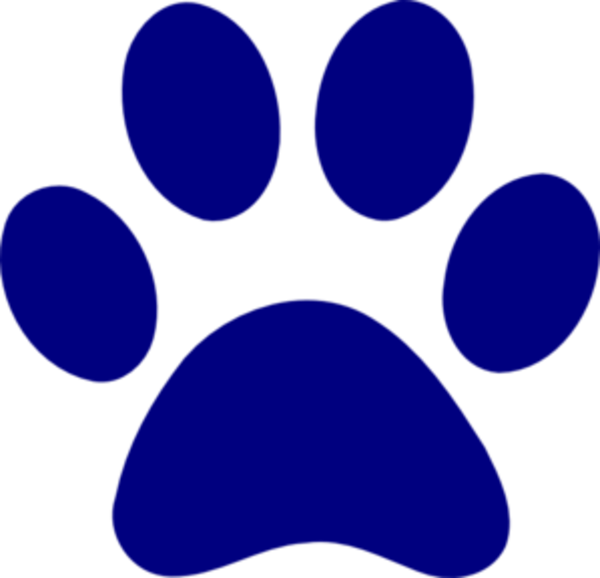 dark blue paw print md free images at clkercom vector