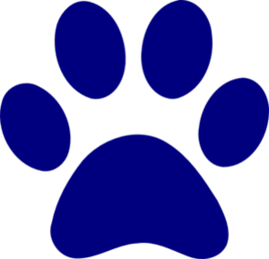 Dark Blue Paw Print Md Image