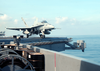 F/a-18c Hornet Launches From Uss Lincoln Image