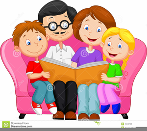 free clipart of parents reading to children free images
