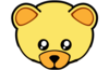 Yellow Cute Teddy Bear Face Image