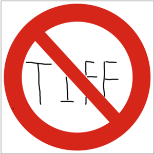 No Tiff Sign Clip Art