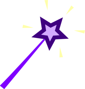 Purple Wand Clip Art