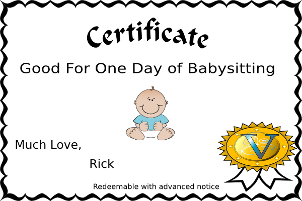 photo relating to Babysitting Coupon Printable named printable babysitting coupon -