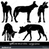 Wild Animal Silhouettes Clipart Image