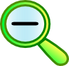 Zoom Out Icon Clip Art