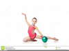 Clipart Of Little Girl In Gymnastics Image