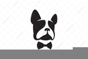 French bulldog head silhouette